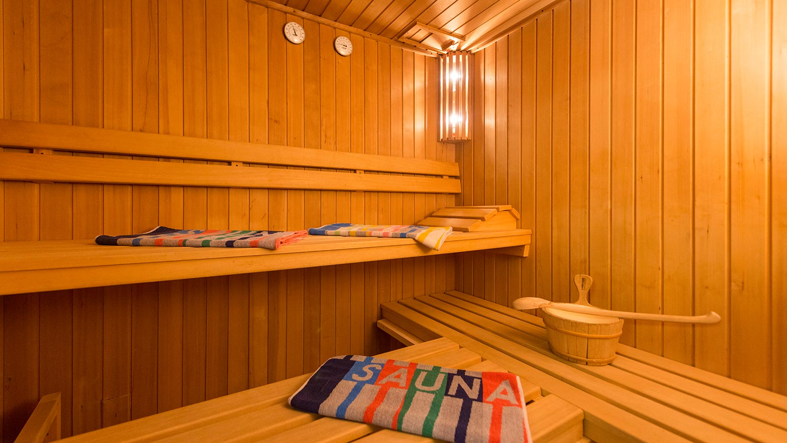 Finnish sauna in wellness area to relax mind and body