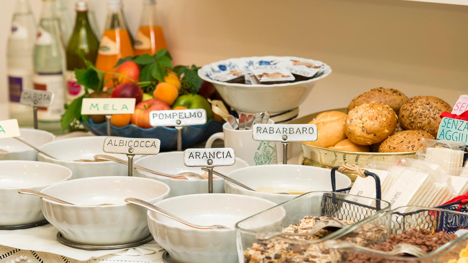 Breakfast buffet with a wide range of local products